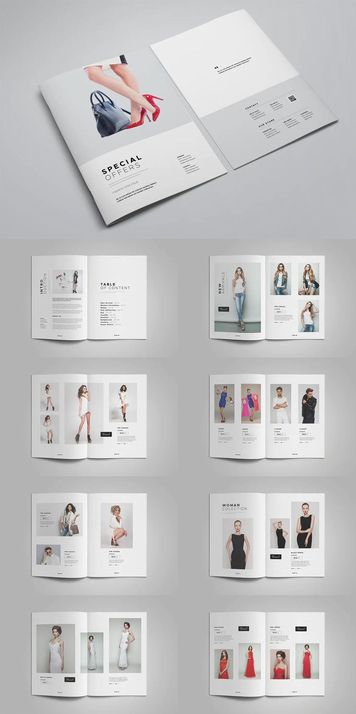 Product Catalog Template 36 Unique Pages A4 And Us Letter Size Product Catalog Template Catalog Design Layout Catalog Design