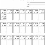 Multi Digit Multiplication Worksheets Multiplication Worksheets Partial Product Multiplication Multiplication
