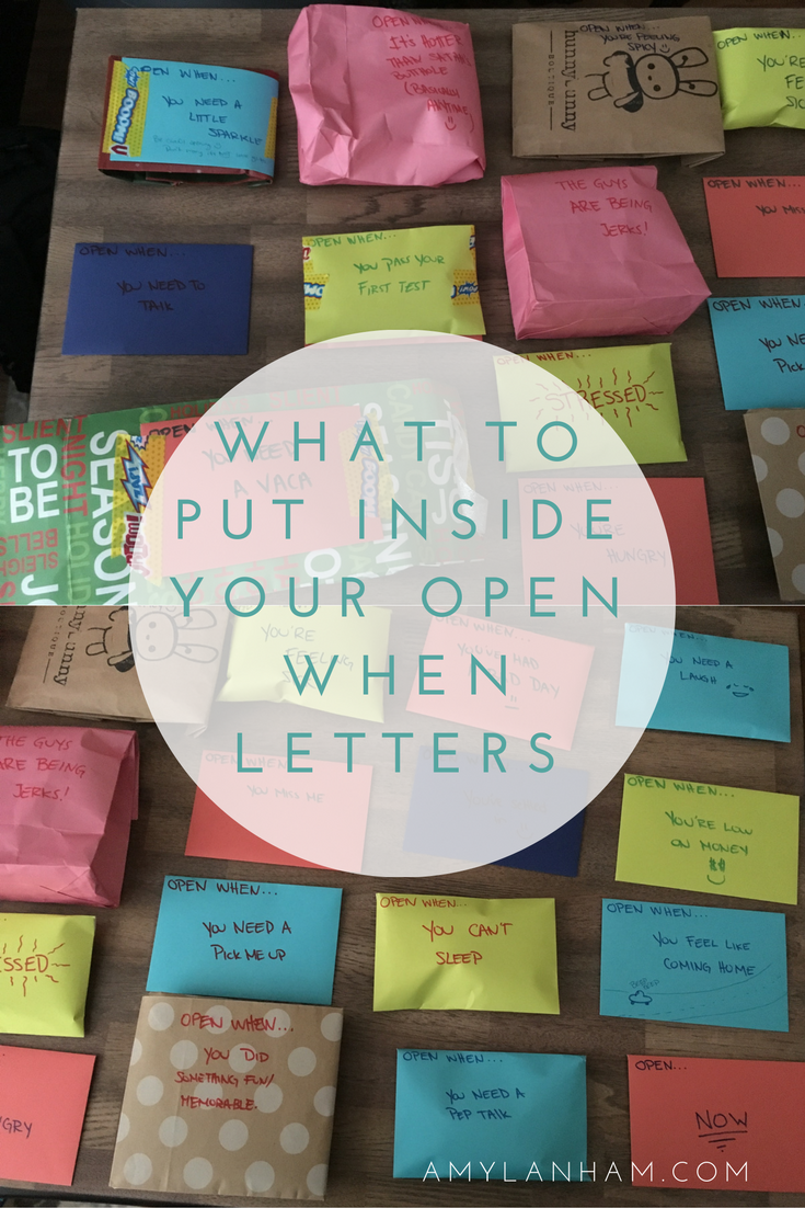 What to Put Inside Your Open When Letters Best friend