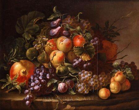 Carlo Manieri Natura Morta con frutta Epoca : Seicento