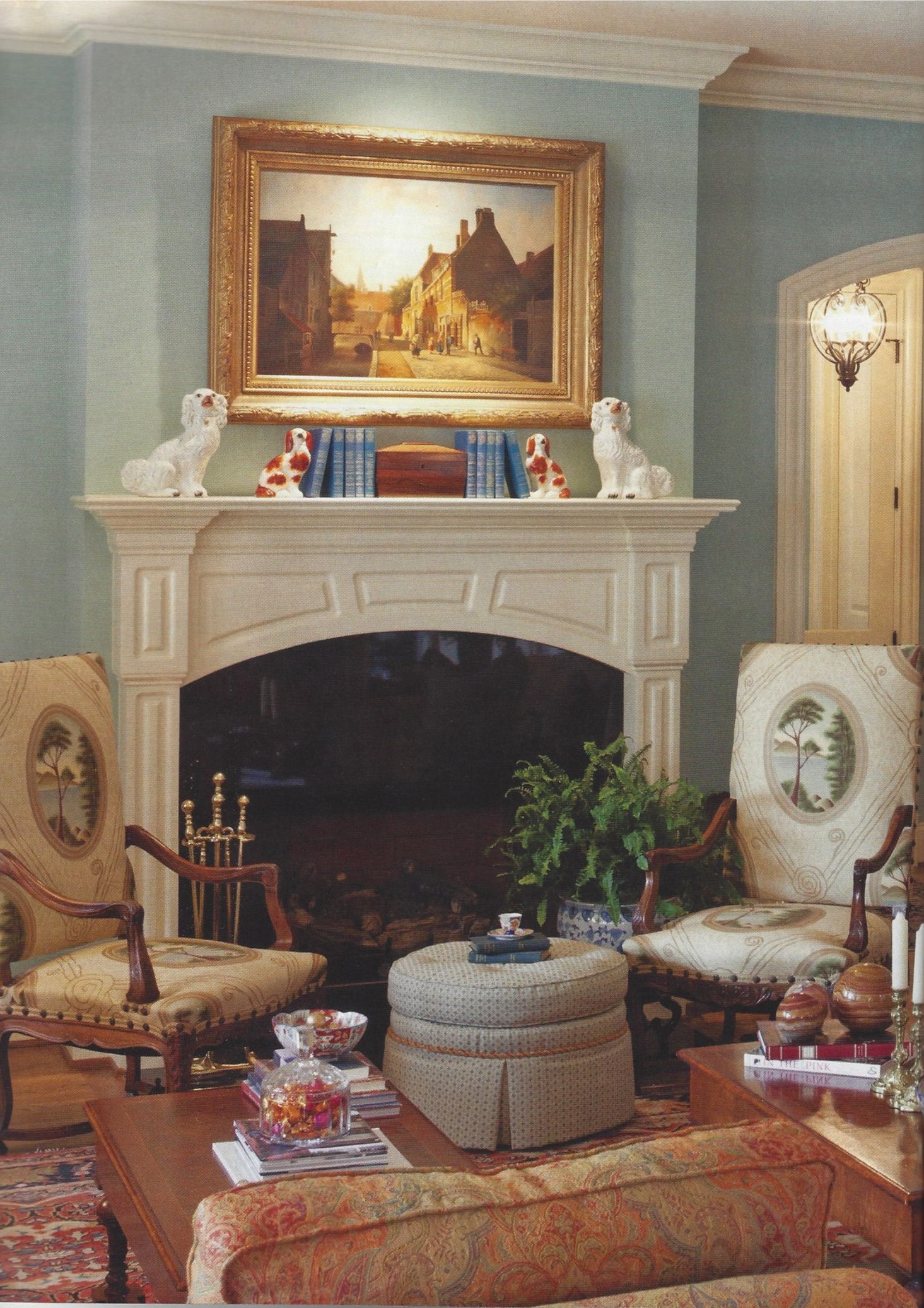 Living Room W Antiques Staffordshire And Art Design By Eric Ross
