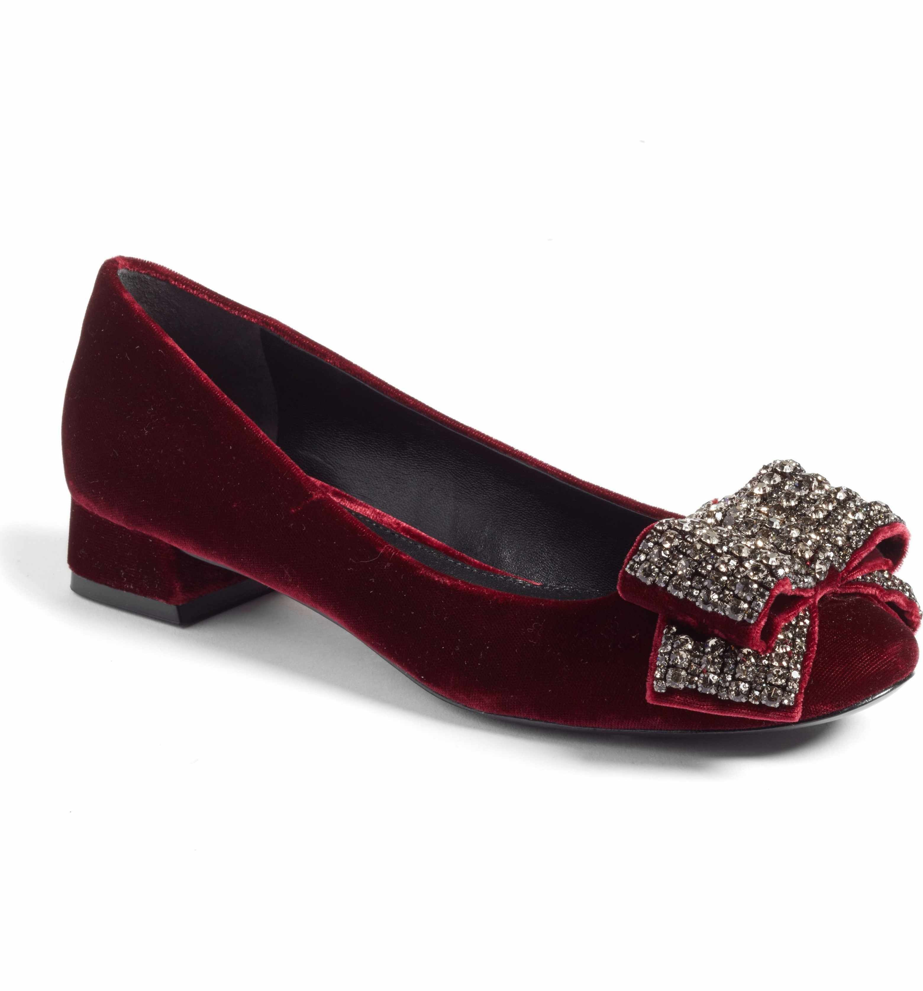 Main Image - Tory Burch Josephine Embellished Bow Pump (Women)