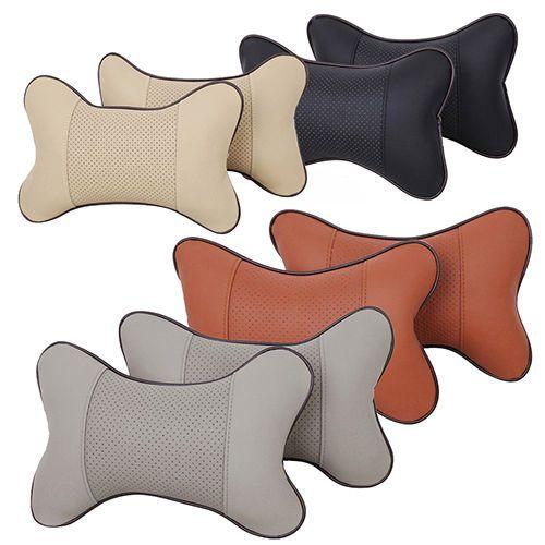 2pcs Breathe Car Auto Seat Head Neck Rest Cushion Headrest Pillows Pad 4 Colors Ebay Neck Support Pillow Neck Pillow Travel Travel Pillow Pattern