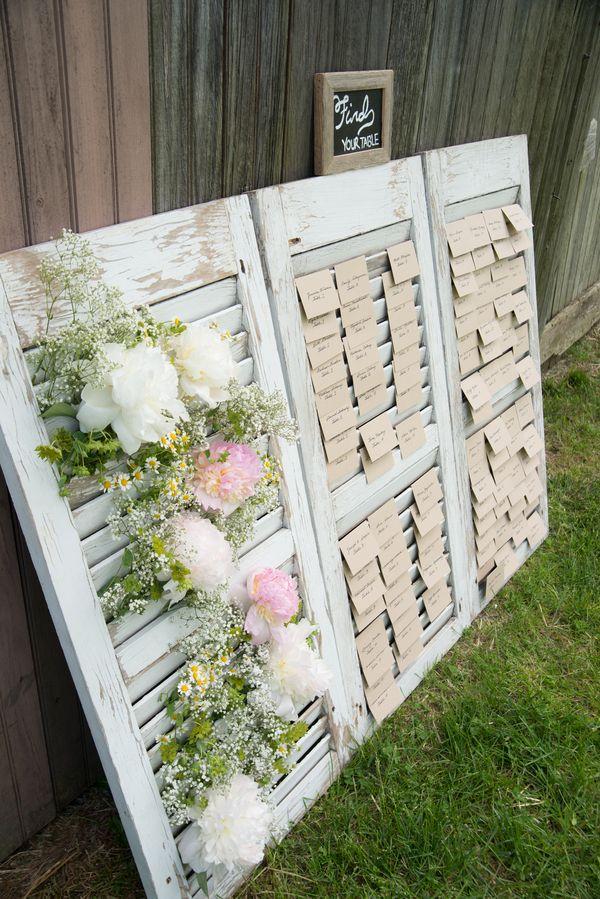 Simple Farm Wedding Seating chart wedding, Farm wedding