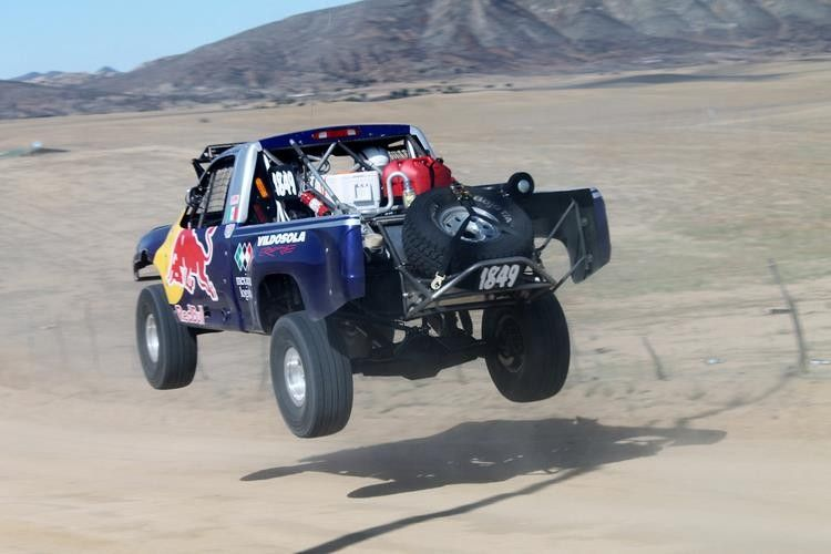 Racing Truck making the plunge at the #Graham Baja 1000 rally #race