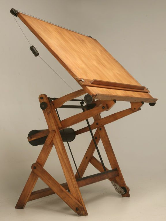 c.1930 Vintage French Architect's Drafting Table - C.1930 Vintage French Architect's Drafting Table Modern