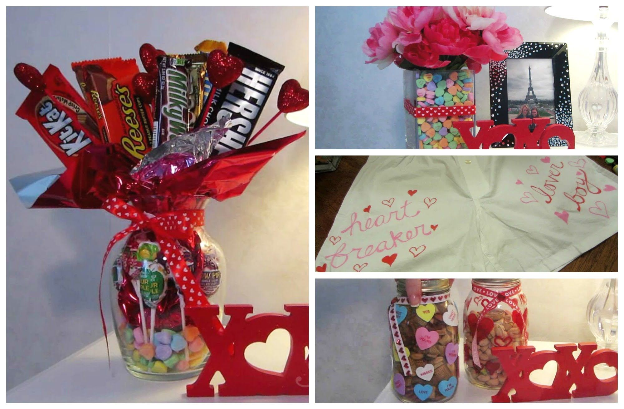 Cute Valentine Diy Gift Ideas Decorated Mason Jars Filled With