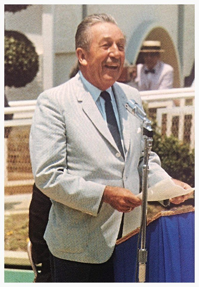 "Walt Disney at the official opening of the ""It's A Small World"" attraction at Disneyland."