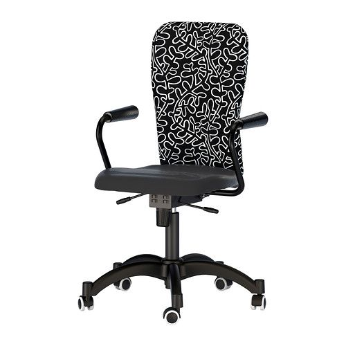 Nominell swivel chair with armrests black patterned key features height adjustable for a - Prezzi parquet ikea ...