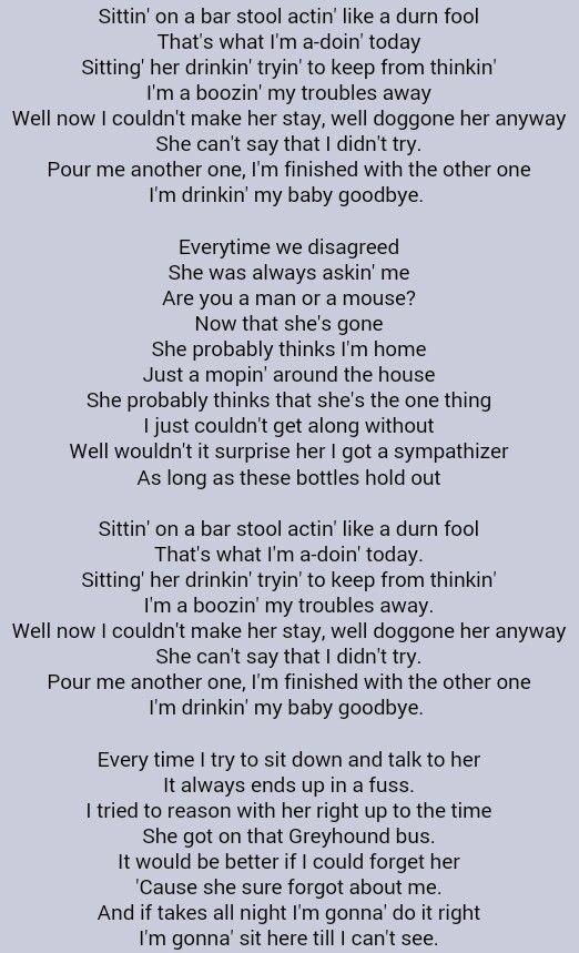 When I M With My Baby Lyrics : lyrics, Charlie, Daniels, Drinkin', Goodbye, Daniels,, Lyrics,, Drinkin
