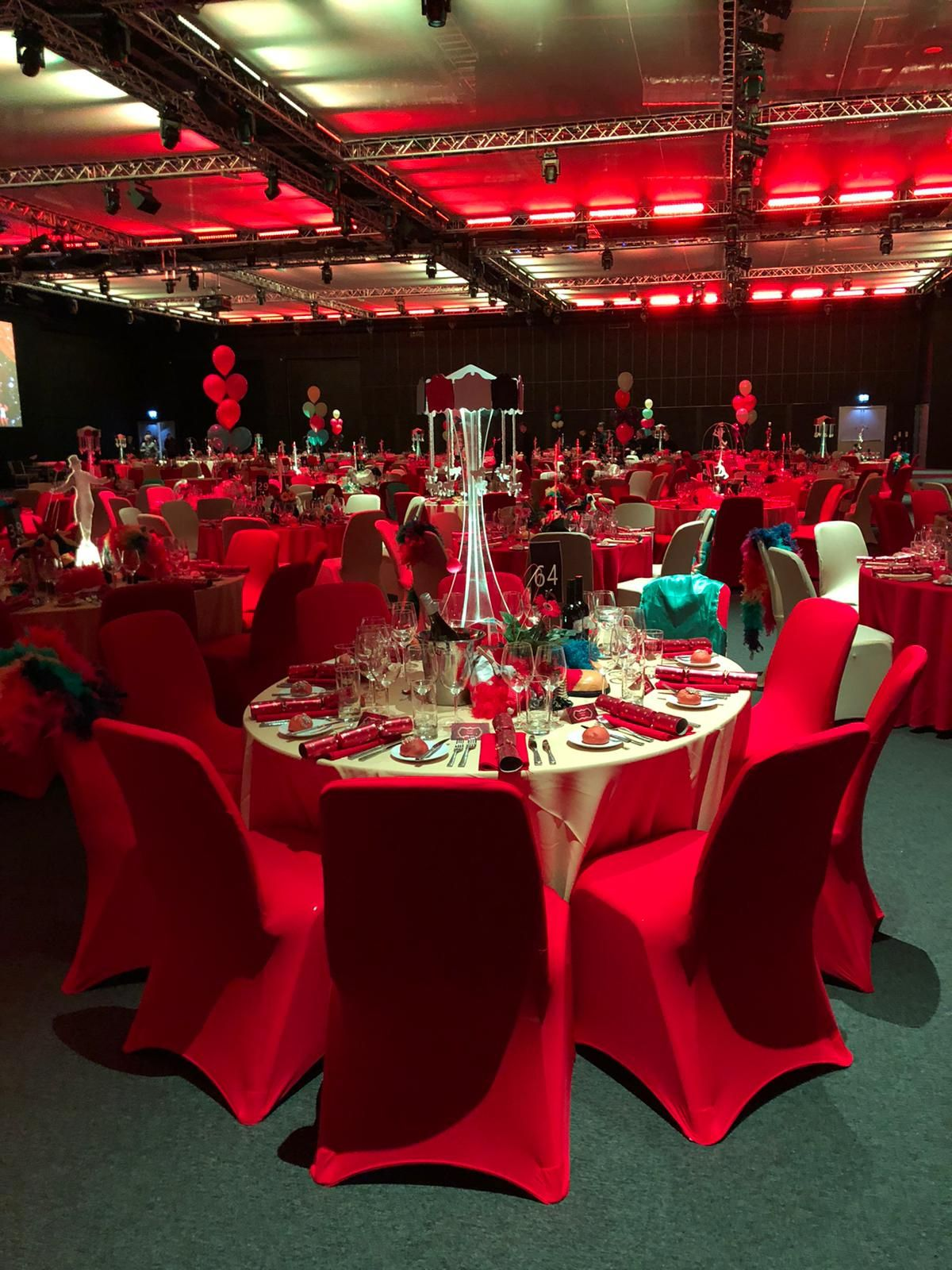 Looking Back On Recent Christmas Set Ups By Our Event Art Team And Loving Some Of The Amazing Concepts Here S Furniture Hire Photo Booth Hire Table Centers