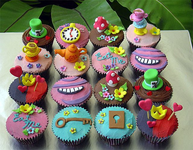 Alice in Wonderland Cupcakes by specialcakes/tracey, via Flickr