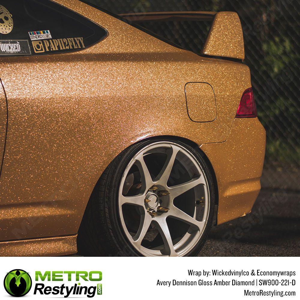 Avery Dennison Diamond Amber Vinyl Wrap Metro Restyling Vinyl Wrap Vinyl Wrap Car Hot Rods Cars Muscle
