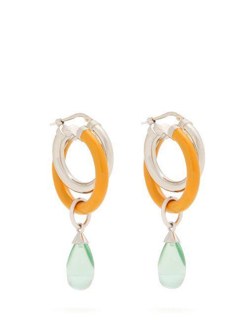 Peter Pilotto Medium double-hoop earrings 1qFJey