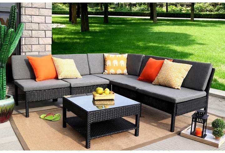 Zipcode Design Maryann Complete Patio Garden 6 Piece Sectional Set