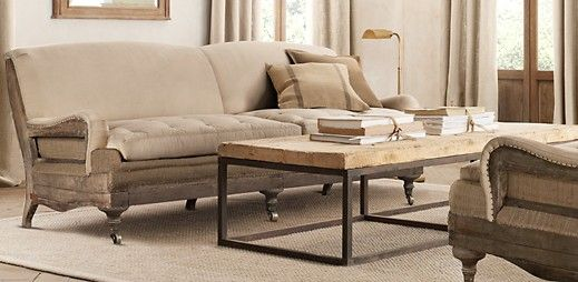 Restoration hardware decontructed english roll arm collection ...