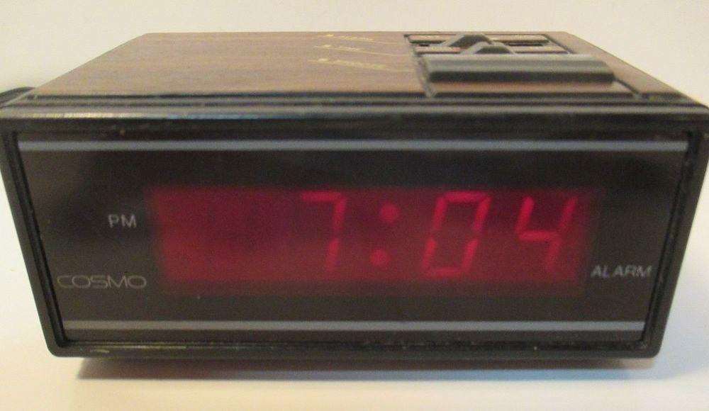 Retro Vintage Cosmo Time Led Digital Alarm Clock E529b Rare