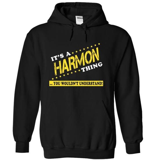 Its a HARMON Thing, You Wouldnt Understand! - #housewarming gift #house warming gift. BUY NOW => https://www.sunfrog.com/Names/Its-a-HARMON-Thing-You-Wouldnt-Understand-gkuwbomjft-Black-12296200-Hoodie.html?68278