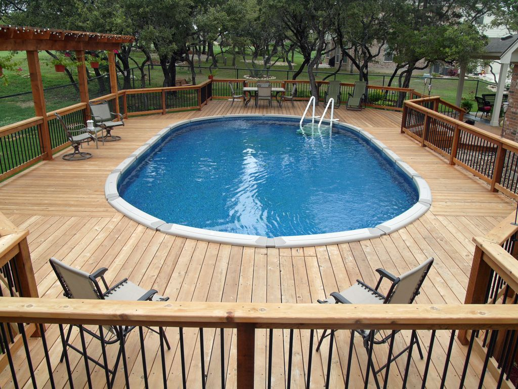 Above ground pools for sale above ground oval pool for Patio decks for sale