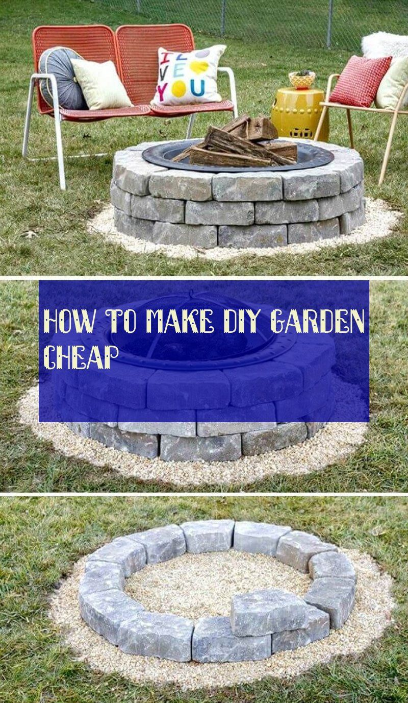 How To Make diy garden cheap