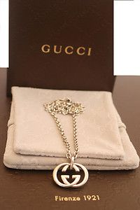 70521fe1a Gucci Jewelry - 100% AUTHENTIC GUCCI NECKLACE WITH INTERLOCKING G PENDANT  163452 - See More