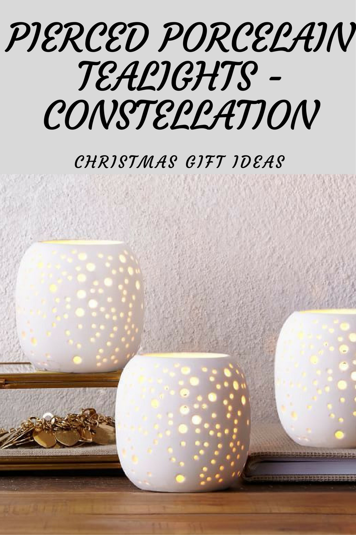 $7 West Elm Pierced Porcelain Tealights - Constellation Christmas ...