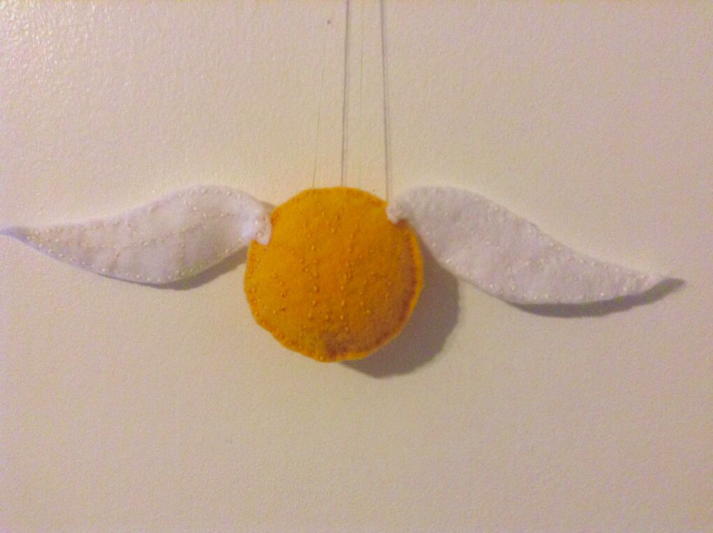 Golden Snitch inspired orange cover KNITTING PATTERN 9cm Harry Potter toy