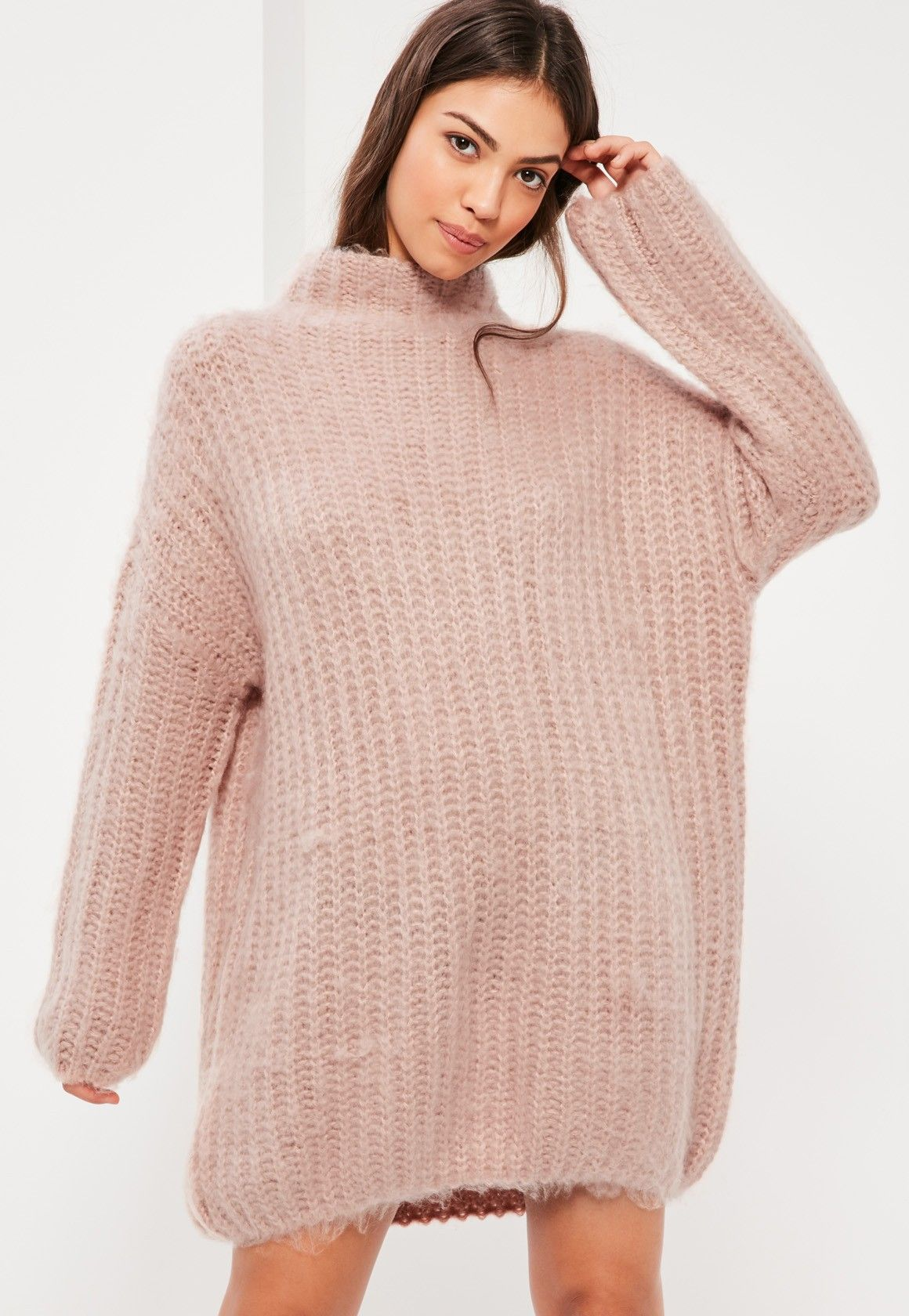 Missguided - Robe-pull courte oversize rose Pull Oversize Rose 6c292a4b8