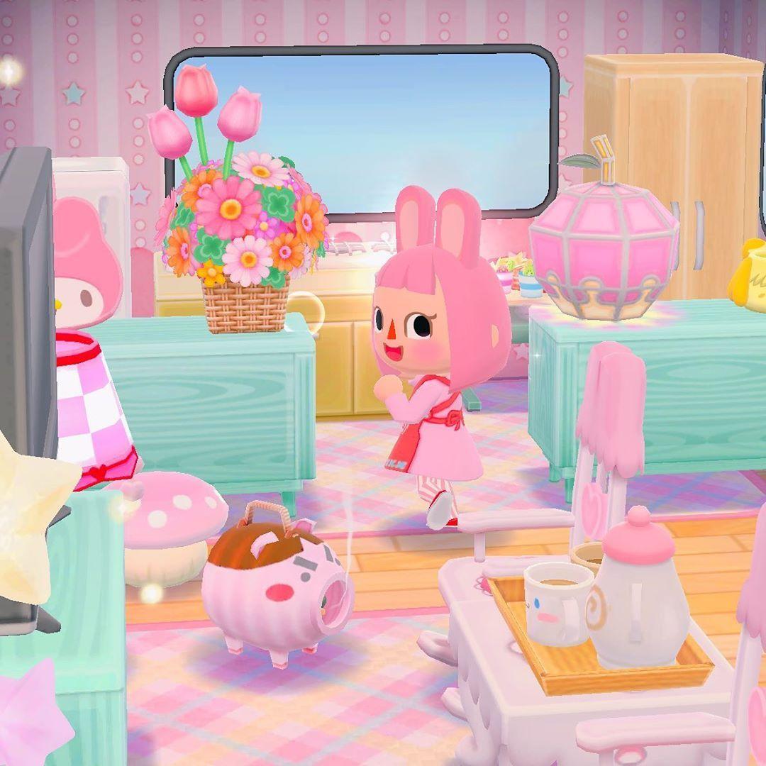 pink animal crossing phone wallpaper
