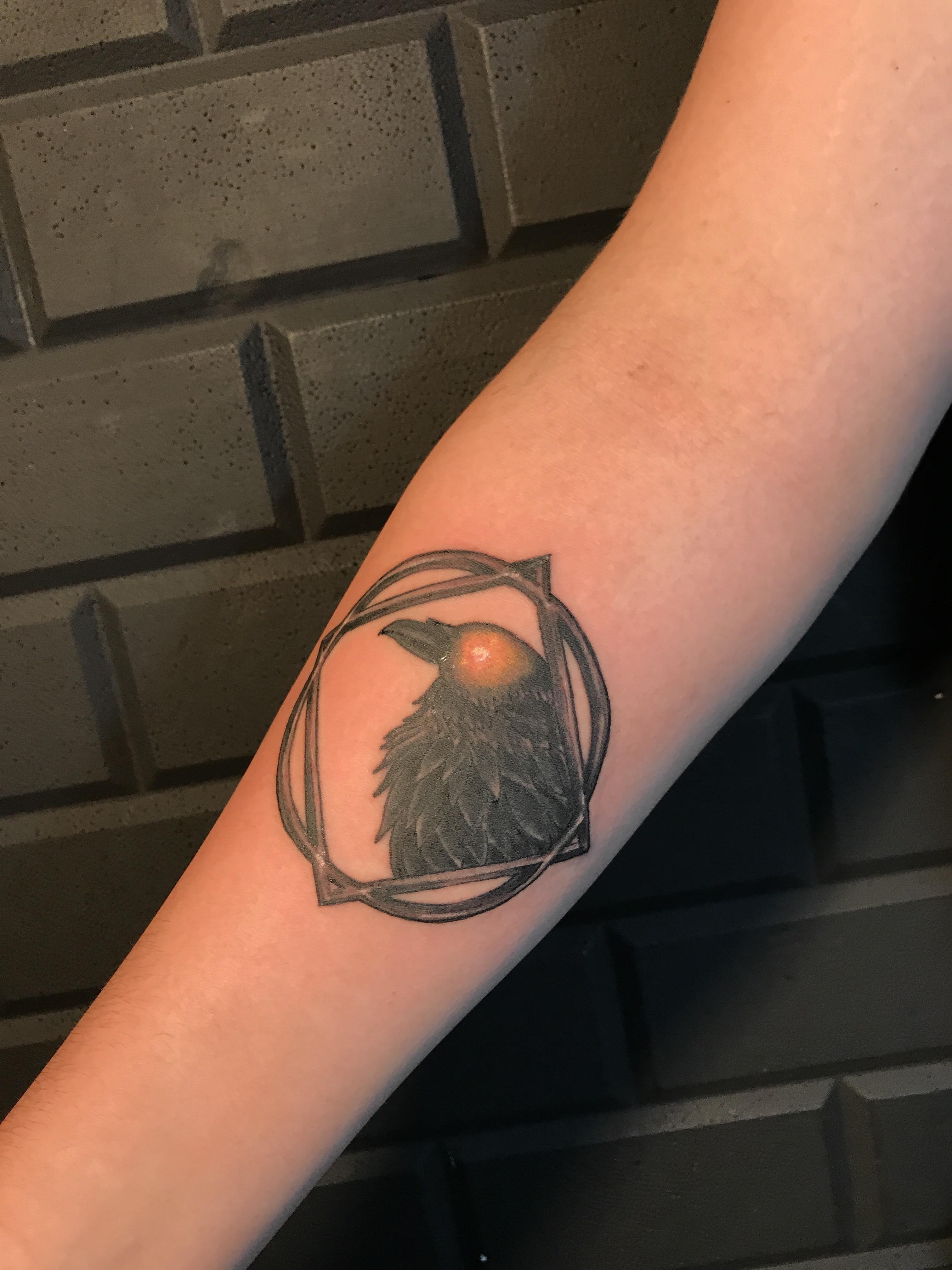 Just got the Medivh's Raven Tattoo #worldofwarcraft #blizzard #Hearthstone #wow #Warcraft #BlizzardCS #gaming