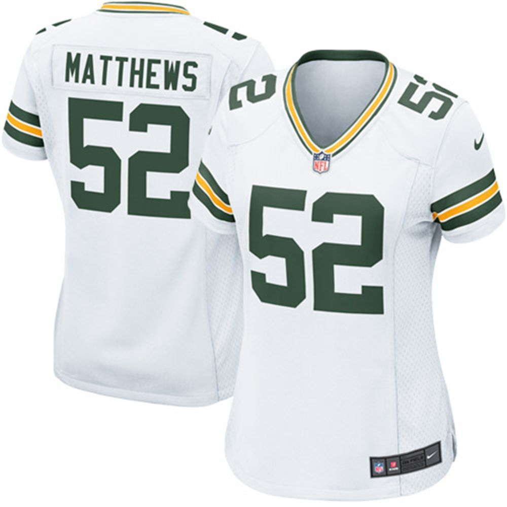 Nike Clay Matthews Green Bay Packers Women S White Game Jersey Green Bay Packers Green Bay Packers Merchandise Green Bay
