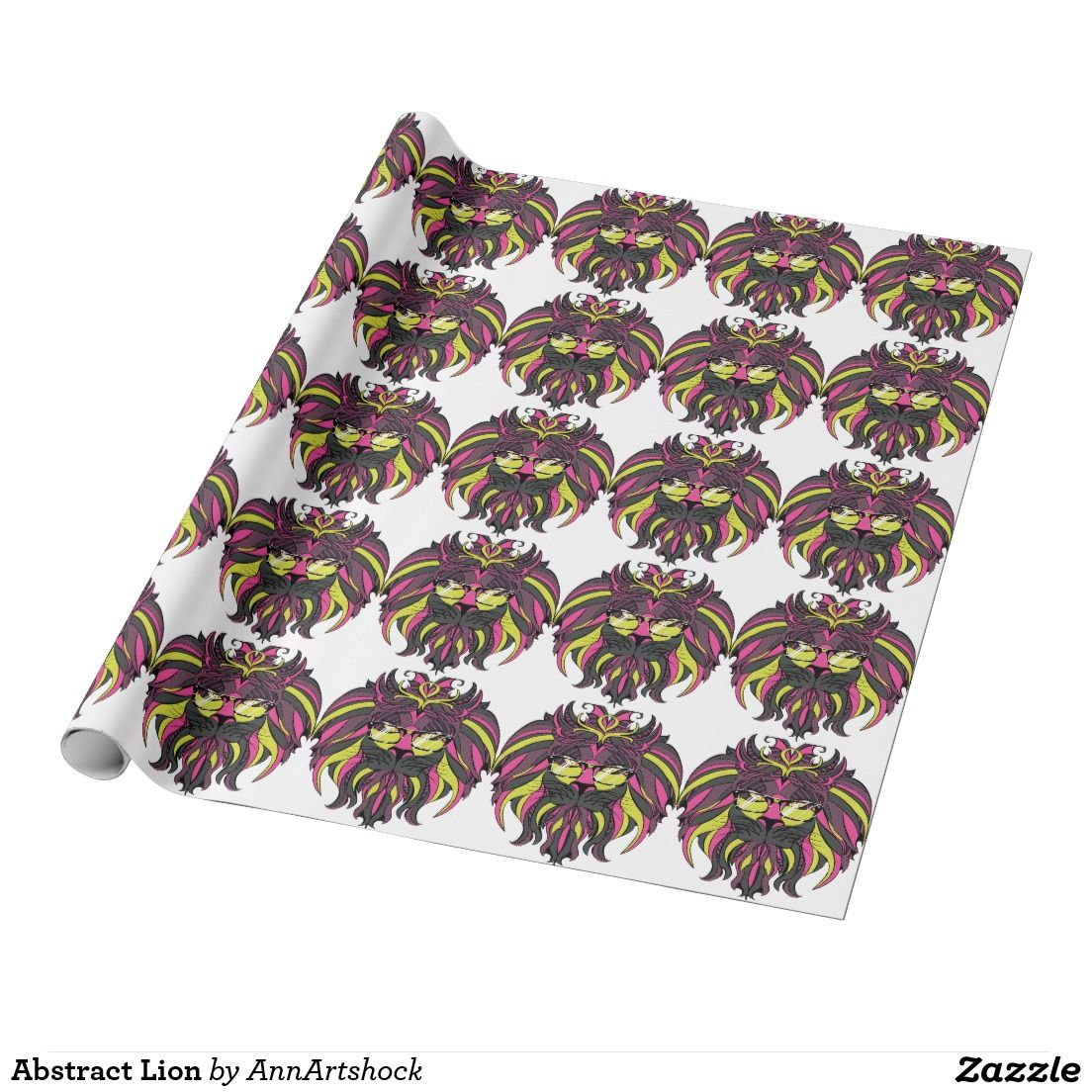 Abstract Lion Wrapping Paper