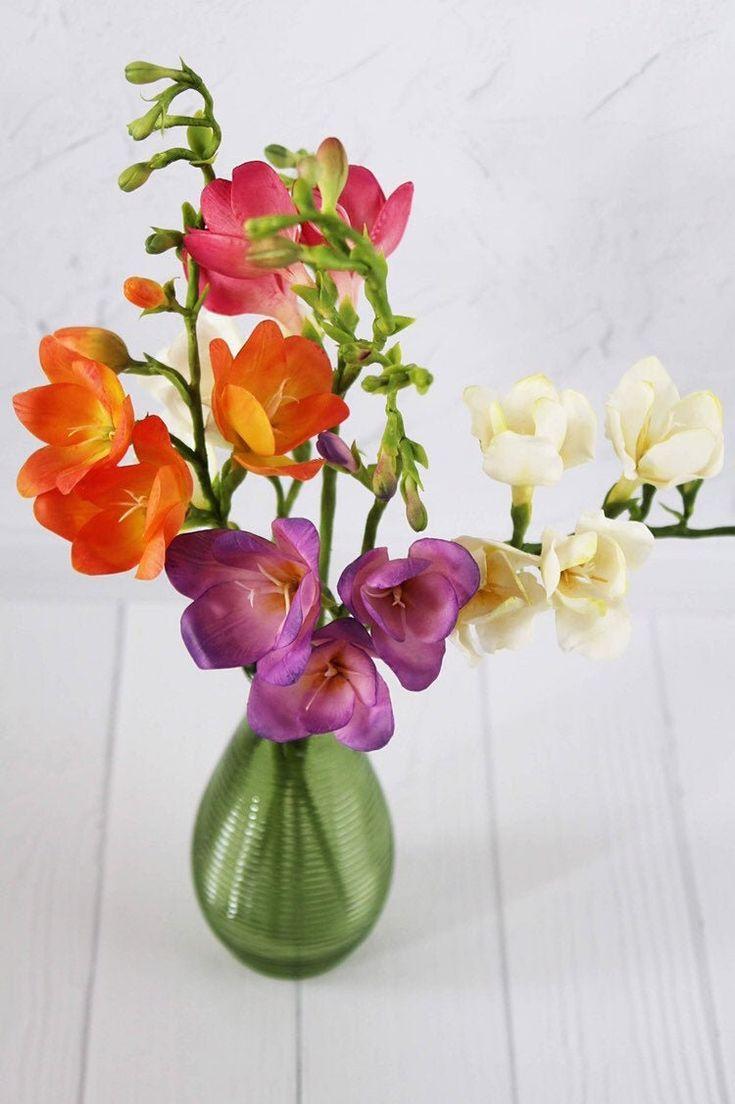 Freesia Bouquet Flower Art Etsy In 2020 Freesia Bouquet Freesia Flowers Flower Arrangements