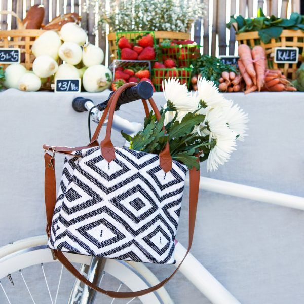 Carry It Everywhere - With double top handles, a crossbody strap and a neutral motif, this graphic bag transitions smoothly from a weekday staple, for stowing your office essentials, to a weekend tagalong as a gym bag or farmer's market holder. Come summer, it will work as a cool beach bag too.