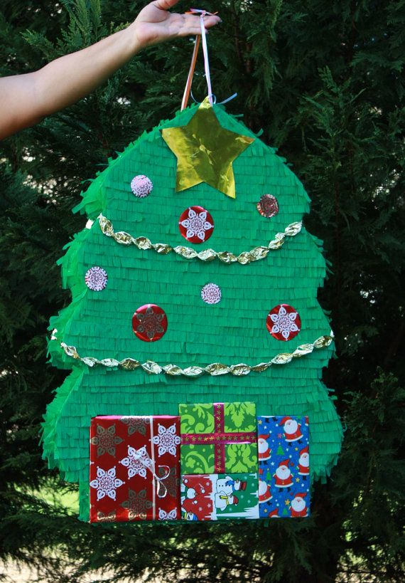 Christmas Tree Pinata Part - 40: Christmas Tree Pinata - Large Christmas Tree Pinata