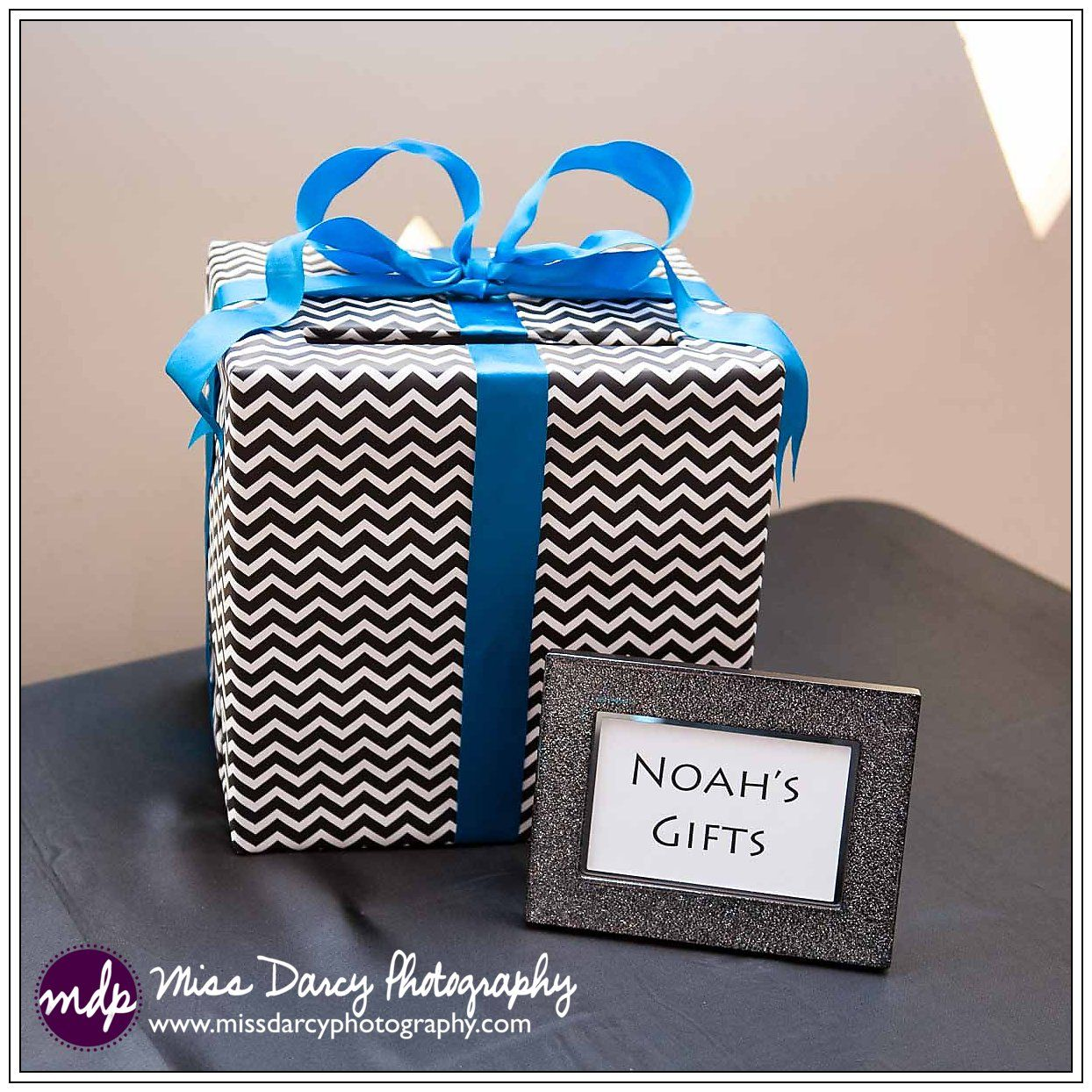 Diy Gift Card Box Wrapping Paper Bar Mitzvah Blue Color Theme