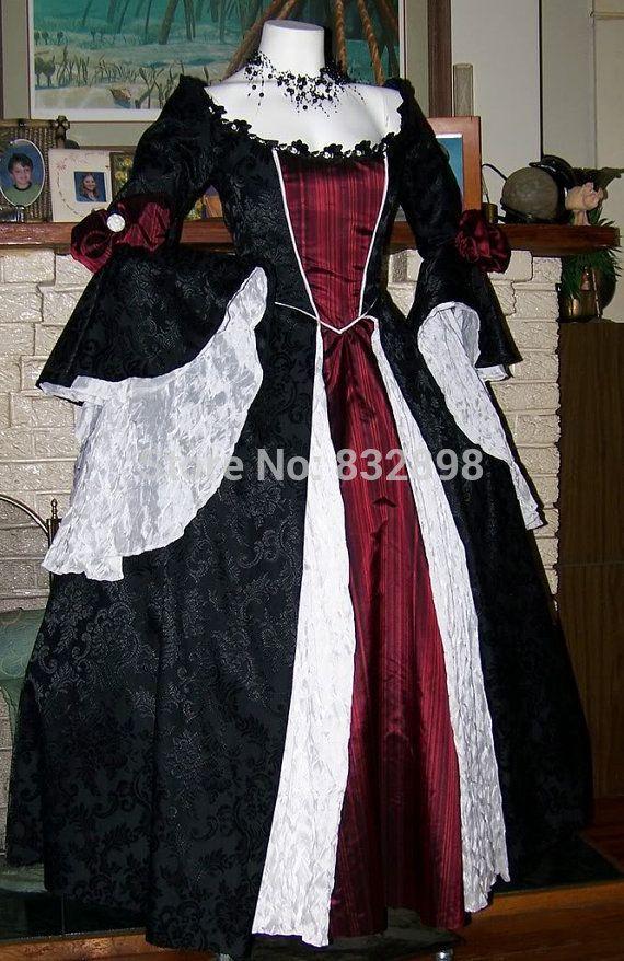Encontre mais Vestidos Informações sobre Drácula renascimento gótico ...