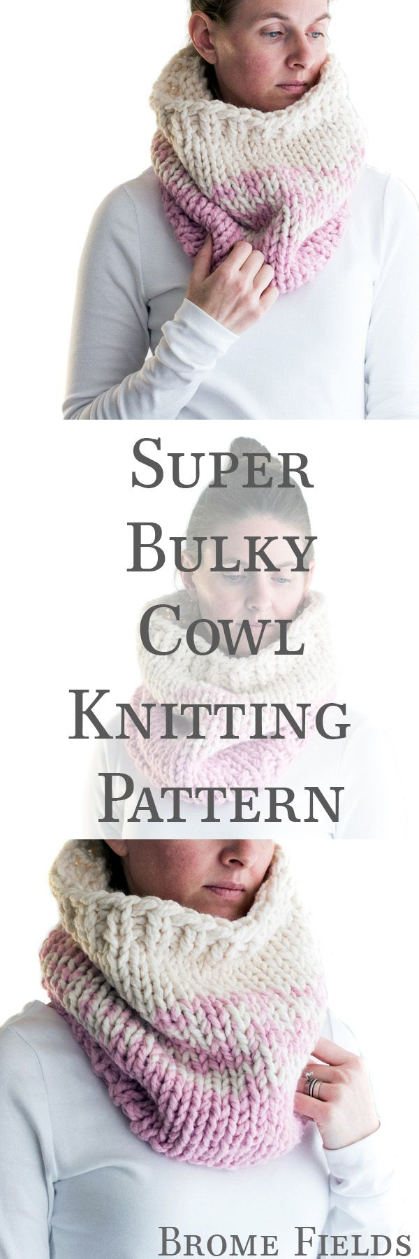 Super Bulky Cowl Knitting Pattern by Brome Fields ...