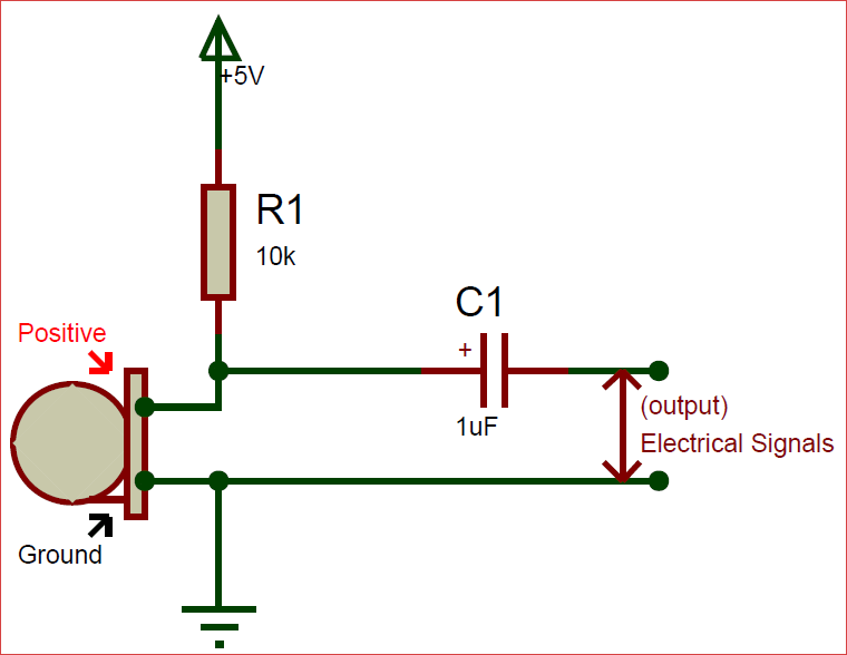 circuit using electret condenser microphone circuits pinterest rh pinterest com Microphone with Amplifier Op Amp Circuit Diagram Microphone Amplifier Circuit