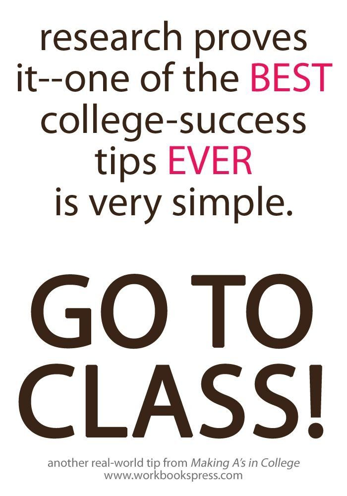 Research proves it - one of the best college success tips ever is - college success tips
