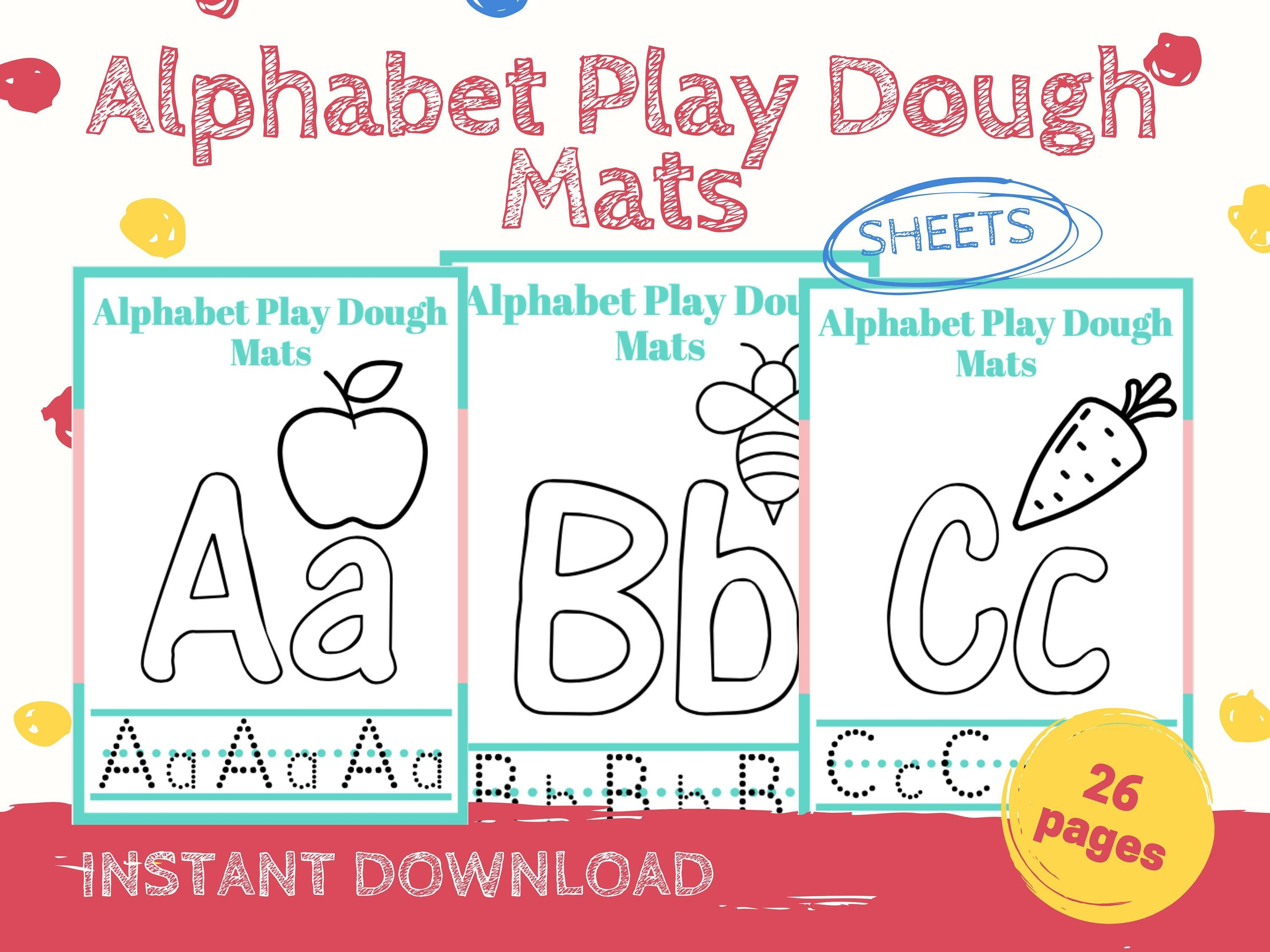 Play Dough Alphabet Mats Printable Play Dough Mats Tracing Mats Letter Formation Play Dough In 2020 Playdough Activities Playdough Busy Book