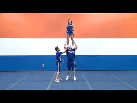 ycada cheer glossary  shoulder stand  shoulder stand
