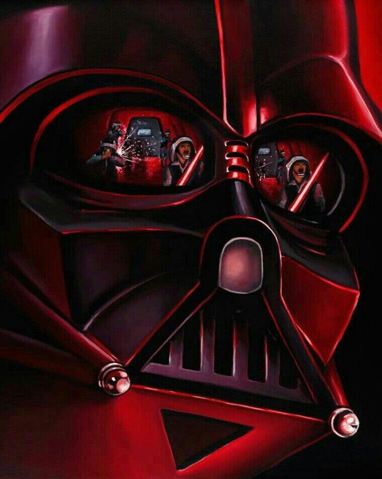 Helmet Reflections Darth Vader Star Wars Artwork Star Wars Pictures New Star Wars