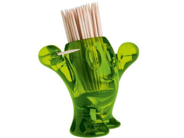 Koziol, Pic\'Nix, porta stuzzicadenti - verde oliva trasparente | Fun ...