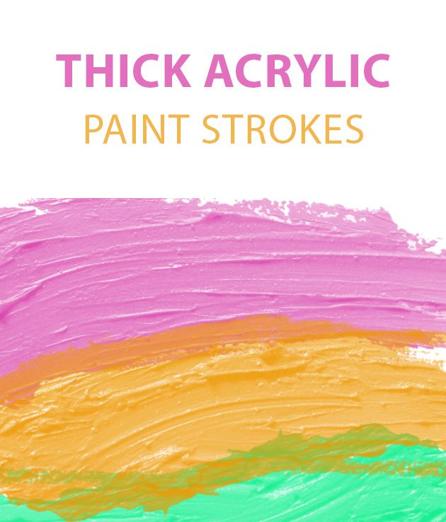 Thick Paint Acrylic Free Photoshop Brush Set Photoshop Brushes