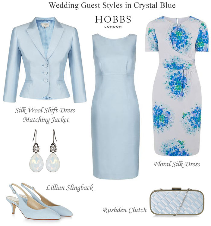 Hobbs crystal blue mother of the bride shift dress and for Dress and jacket for wedding guest
