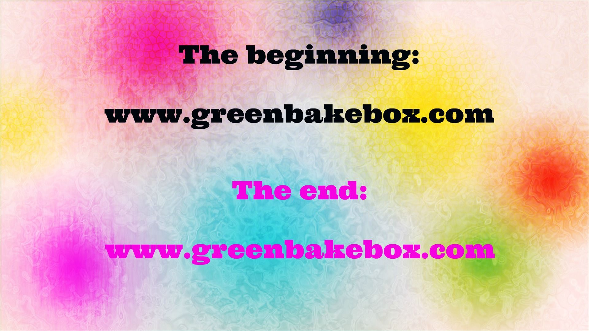 It revolves around the GBB, deal with it. #greenbakebox
