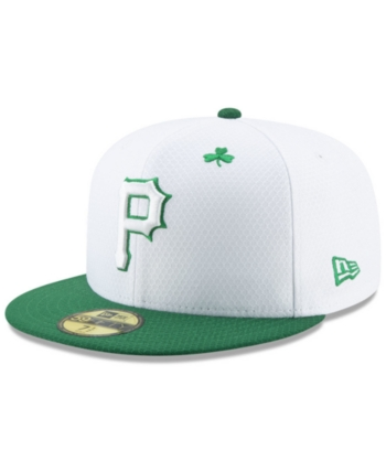d89a6952 New Era Pittsburgh Pirates St. Pattys Day 59FIFTY-fitted Cap - White 7 5/8
