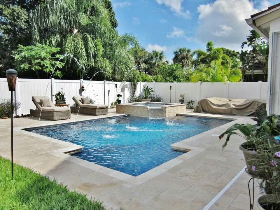 Www Sunsationalpoolsandspas Com Sunsationalpoolsandspas Beautiful Pool And Spa Combo Built By Sunsational Pools And Spa Spa Pool Beautiful Pools Backyard Pool