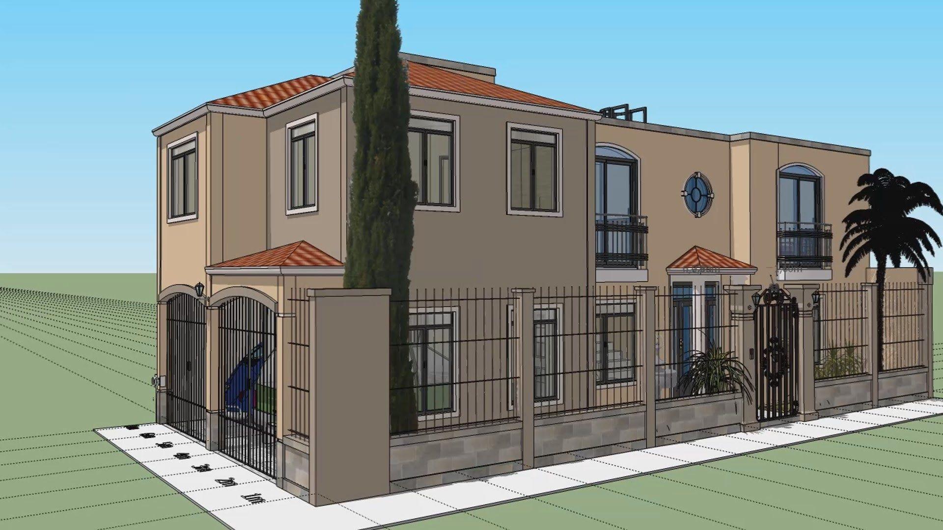 Casa En Esquina 7x15 Mts House Styles House Plans House Design